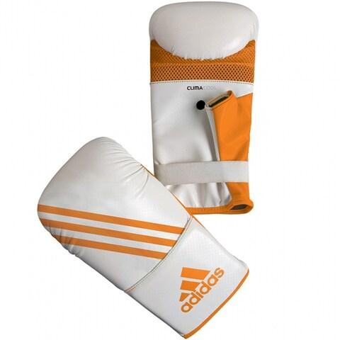 Adidas Box-Fit Open Thumb Boxing Bag Gloves - White/Orange