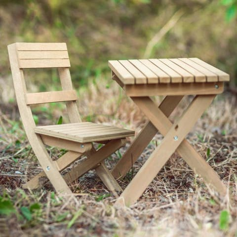 18 Inch Doll Folding Camping Table & Chair, Furniture Sized for American Girl Dolls