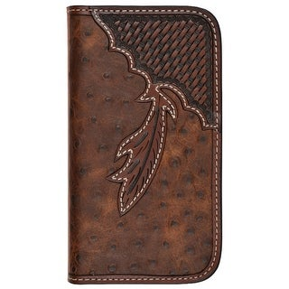 Tony Lama Cell Phone Case Leather Samsung Galaxy S5 Brown