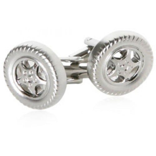Racing Tire Car Automobile Racing Vehicle Car Enthusiast Cufflinks