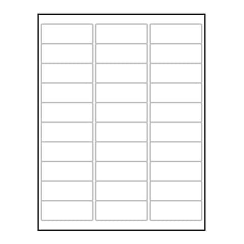 "Laser Label Sheet, 2-5/8"" x 1"" Laser Finish, Flat Sheet and Pre-Die Cut Labels (Box of 100) - 2-5/8 x 1 in"
