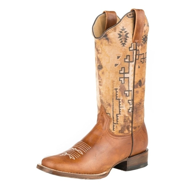 Roper Western Boots Womens Painter Goat Brown