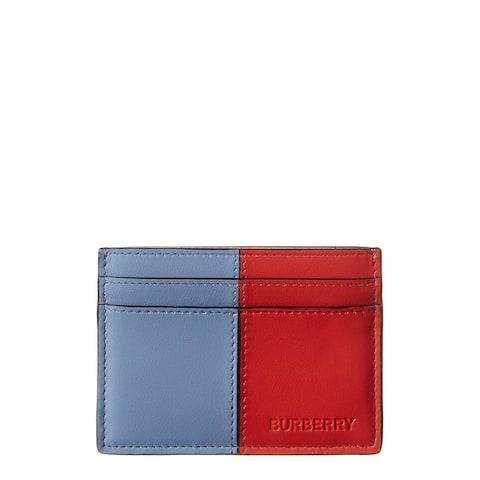 Burberry Sandon Colorblocked Leather Card Case - NoSize