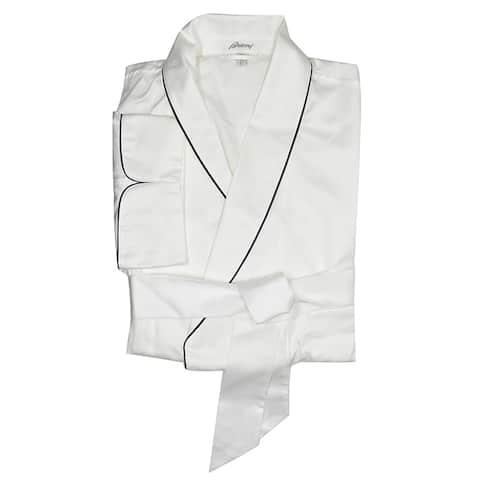 Brioni Mens White Lounge Robe
