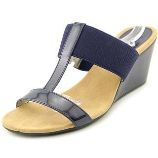 Style & Co Vern Women Open Toe Synthetic Blue Wedge Sandal