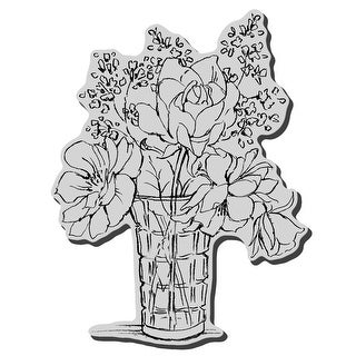 """Stampendous Cling Stamp 4""""X6""""-Vase Bouquet"""