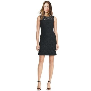 Lauren by Ralph Lauren Lace Sheath Cocktail Day Dress - 8