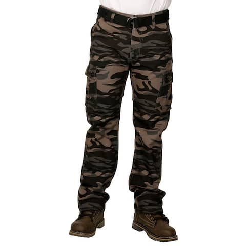 Royal Blue Men's Premium Twill Camouflage Cargo Pants