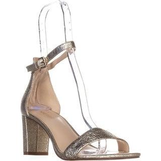 Nine West Pruce Ankle Strap Sandals, Light Gold Metallic