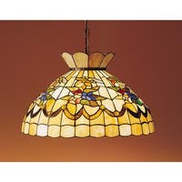 "Meyda Tiffany 31219 1-Light 20"" Wide Pendant with Handmade Shade - Tiffany Glass - N/A"