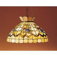 "Meyda Tiffany 31219 Single Light 20"" Wide Pendant with Handmade Shade - tiffany glass"