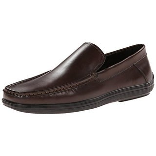 Kenneth Cole Mens Shell Out Leather Square Toe Loafers