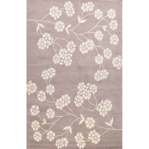 """Floral Transitional Oriental Home Decor Area Rug Wool Hand-tufted - 9'0"""" x 12'0"""""""