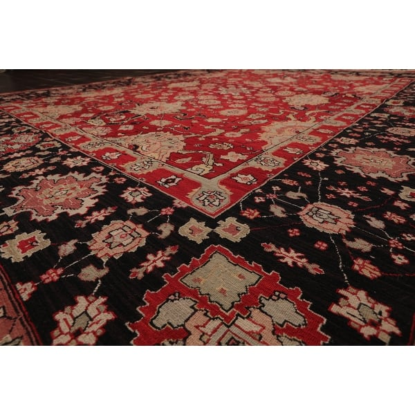 Hand Knotted Reversible Heriz Red Black Oriental Area Rug Wool Contemporary Oriental Area Rug 8x10 8 X 10 On Sale Overstock 31305122