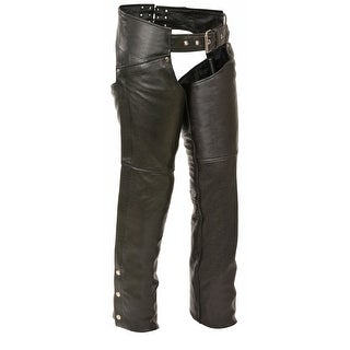 Womens Classic Leather Hip Pocket Chaps (Option: Small)