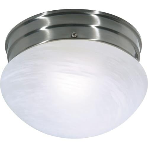 "Nuvo Lighting 76/671 Single Light 7-1/2"" Wide Flush Mount Bowl Ceiling Fixture"