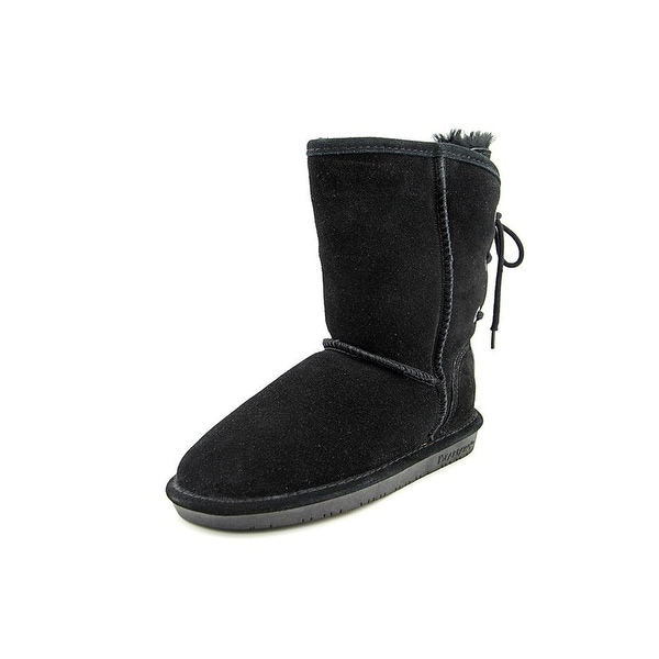 Bearpaw Womens Elizabeth Leather Round Toe Mid-Calf Cold Weather Boots