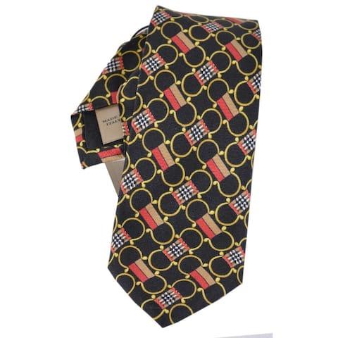 """Burberry Slim Cut Archive Print Nova Check Silk Neck Tie - 2.4"""""""