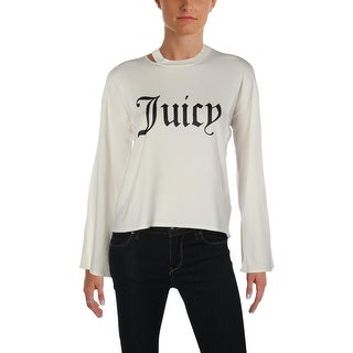 Juicy Couture Black Label Womens Pullover Sweater Logo Crew Neck
