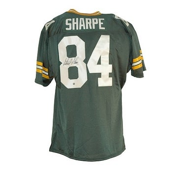 newest ba19d eb219 Autographed Sterling Sharpe Green Bay Packers Green Throwback Jersey