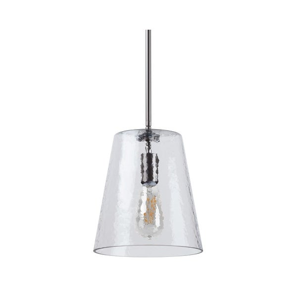 """Miseno MLIT157681 1-Light 9.25"""" Wide Pendant with Hammered Glass Shade"""