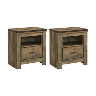 Trinell One Drawer Night Stand Brown 2 Pack Trinell One Drawer Night Stand Brown