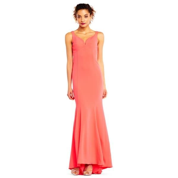 Adrianna Papell Sleeveless Mermaid Dress with Cutout Back - Free ...