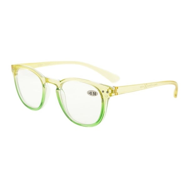Eyekepper Fashion Readers Womens Reading Glasses (Yellow-Green Frame, +4.00)