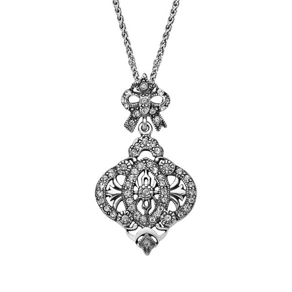 Van Kempen Victorian Pendant with Swarovski Crystals in Sterling Silver - White