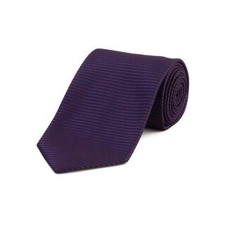 Tom Ford Men's Silk Textured Striped Tie Purple - no size