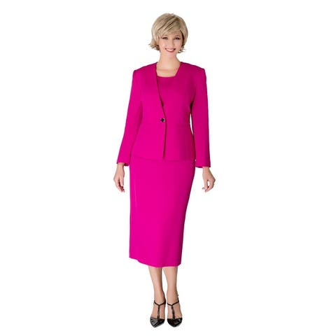 Giovanna Signature 3-pc Clean lines Skirt Suit