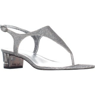 Adrianna Papell Cassidy T-Strap Sandals, Silver (More options available)