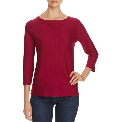 Finity Womens Pullover Sweater Solid Crew Neck