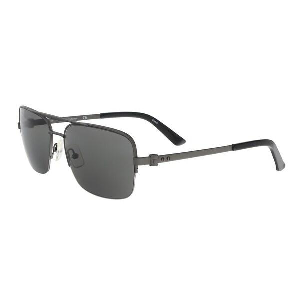 e5cc01cc4c20 Shop Calvin Klein CK8001S 29230 Gunmetal Navigator Sunglasses - 57 ...