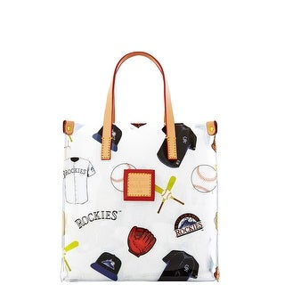 Dooney & Bourke MLB Vinyl Rockies Lunch Tote (Introduced by Dooney & Bourke at $58 in Feb 2014) - White