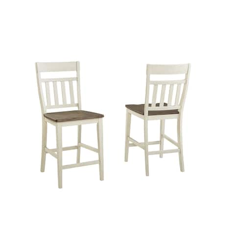 Simply Solid Bradley Solid Wood Counter Stools (Set of 2)