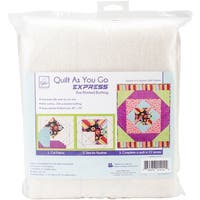Quilt As You Go Express Printed Quilt Blocks On Batting-Square In A Square