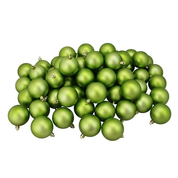 "60ct Kiwi Green Shatterproof Matte Christmas Ball Ornaments 2.5"" (60mm)"