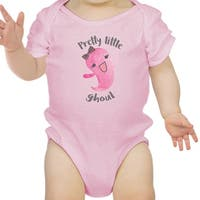 Pretty Little Ghoul Cute Pink Baby Bodysuit For Baby Girl Halloween