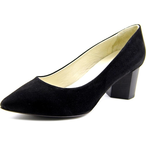 Firenze.Studio Diana Women Pointed Toe Suede Black Heels