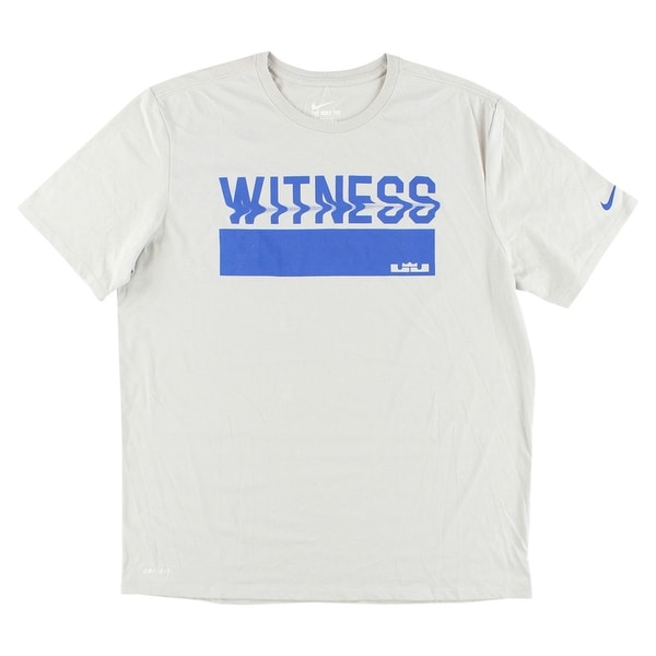 Shop Nike Mens LeBron James Witness Wave Dri FIT T Shirt Light Grey - light  grey royal blue - xL - Free Shipping On Orders Over  45 - Overstock -  22613463 fa47c5458f03