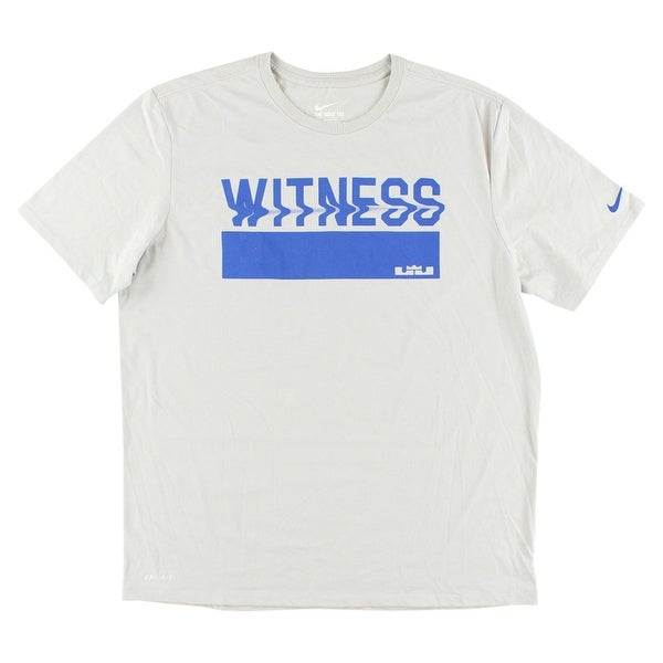 ed4776eb2c58 Shop Nike Mens LeBron James Witness Wave Dri FIT T Shirt Light Grey - light  grey/royal blue - xL - On Sale - Free Shipping On Orders Over $45 -  Overstock - ...