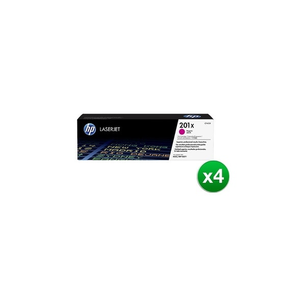 HP 201X Magenta High Yield Original LaserJet Toner Cartridge (CF403X)(4-Pack)