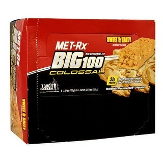 MET-Rx Big 100 Colossal Sweet & Salty (Box of 9)