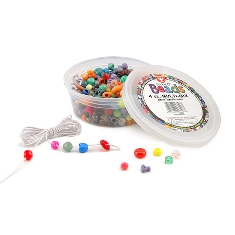 Hygloss bucket o beads 4oz multi-mix 6826