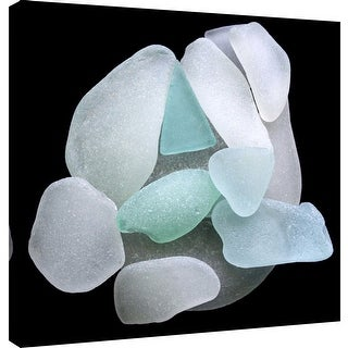 "PTM Images 9-101243  PTM Canvas Collection 12"" x 12"" - ""Sea Glass Pile"" Giclee Minerals and Rocks Art Print on Canvas"