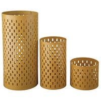Caelan Yellow Candle Holder A2000157C - Set of 3 Caelan Yellow Candle Holder - Set of 3