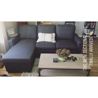 Abbyson Newport Upholstered Sofa Storage Sectional