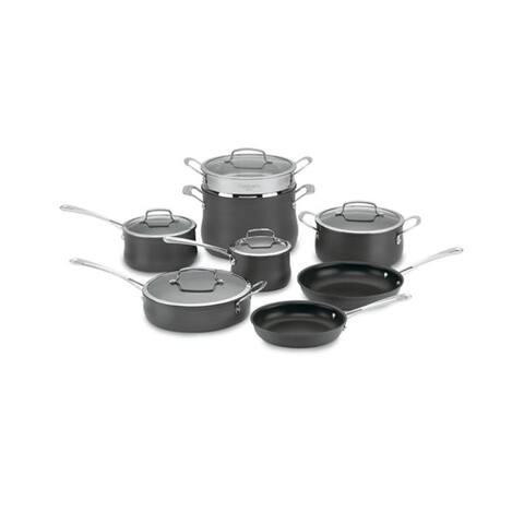Cuisinart Contour Hard Anodized 13-Piece Dark Grey Cookware Set