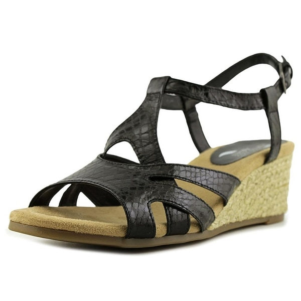 Aerosoles Outer Space Women Black Snake Sandals